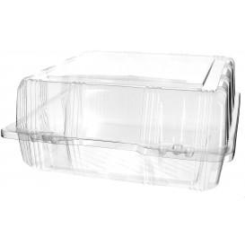 Boîte à charnière Pour Pâtisserie PET 22x22x10cm (20 Utés)