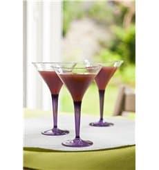 Verre à Cocktail Plastique Aubergine 100ml (6 Unités)