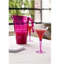Verre à Cocktail Plastique Framboise 100ml (6 Unités)