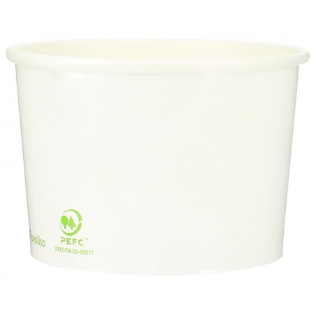 Pot à glace en carton 12oz/360ml Blanc (50 Utés)