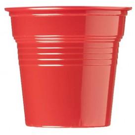 Gobelet Plastique PS Rouge 80ml Ø5,7cm (1500 Utés)