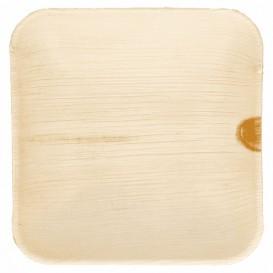 Mini Assiette Feuilles Palmier 11,5x11,5x1,5cm (25 Utés)