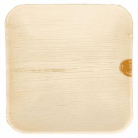 Mini Assiette Feuilles Palmier 11,5x11,5x1,5cm (200 Utés)