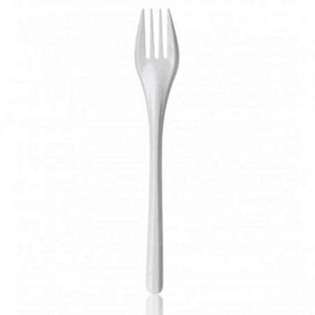 Fourchette Plastique Blanche 165mm (100 Utés)