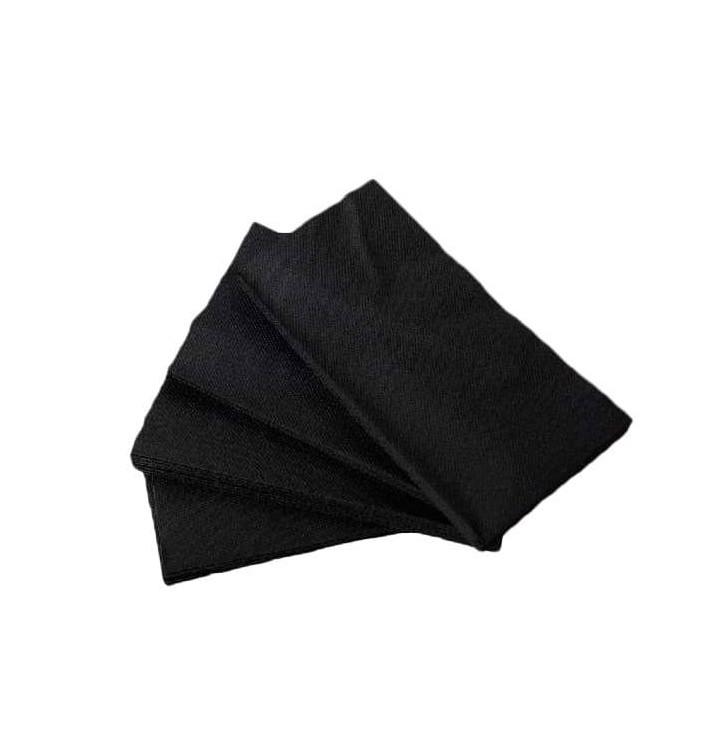 Serviette en papier molletonnée 1/8 40X40 NOIRE (50 Unités)