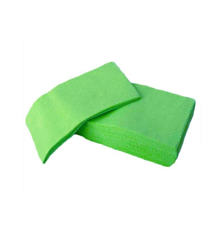 Serviette Papier Molletonnée 1/8 40X40 Vert Pomme (50 Utés)