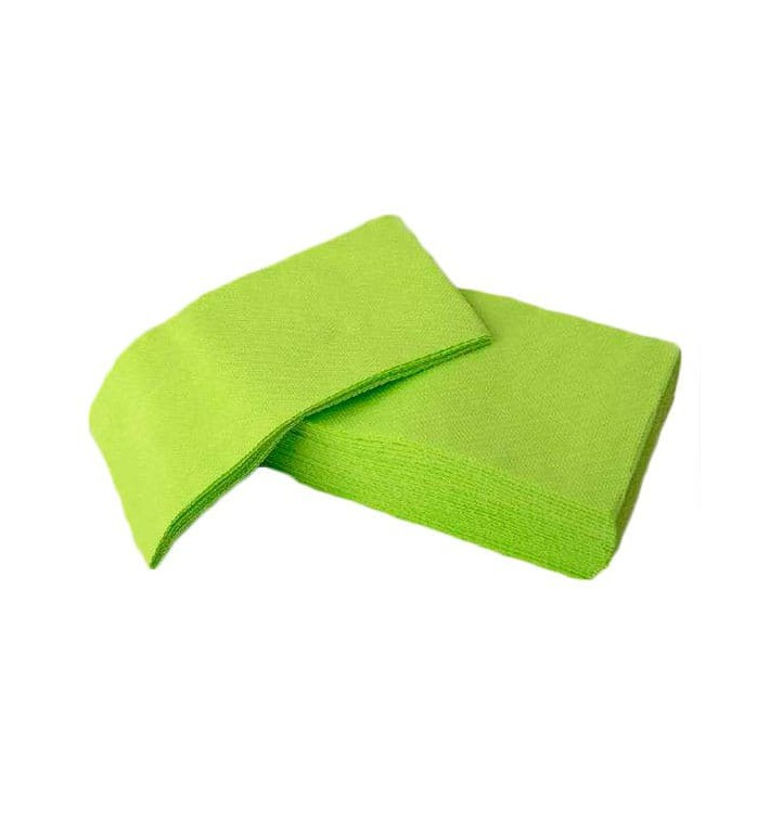 Serviette en papier molletonnée 1/8 40X40 PISTACHE (50 Unités)