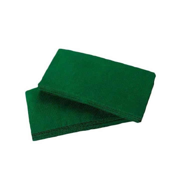 Serviette Papier Molletonnée 1/8 40X40 Vert (50 Unités)