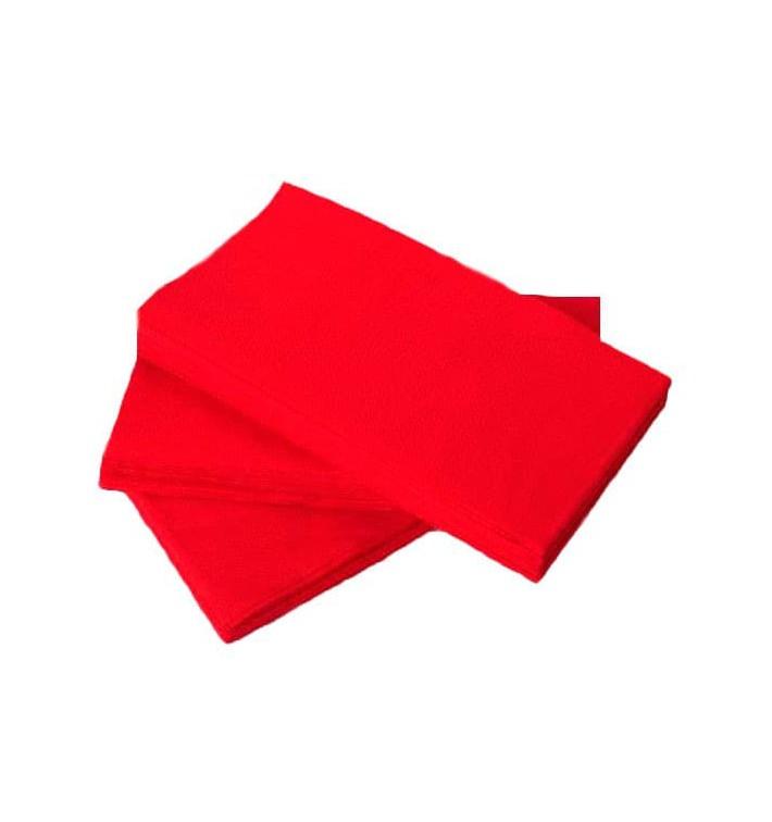 Serviette Papier molletonnée 1/8 40X40 Rouge (1.200 Utés)