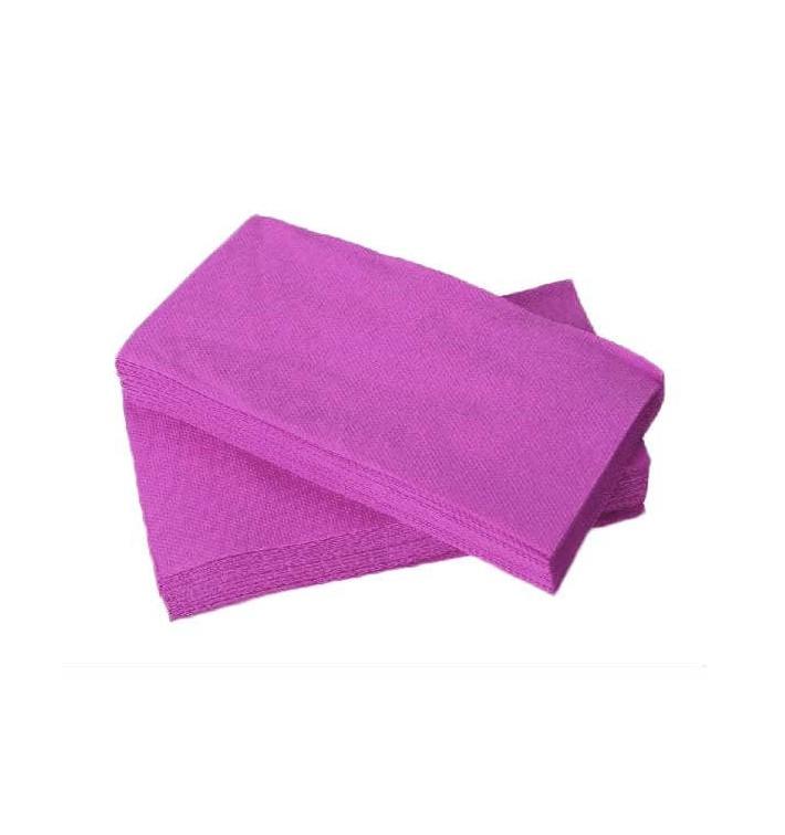 Serviette Papier Molletonnée 1/8 40X40 Lilas (50 Unités)