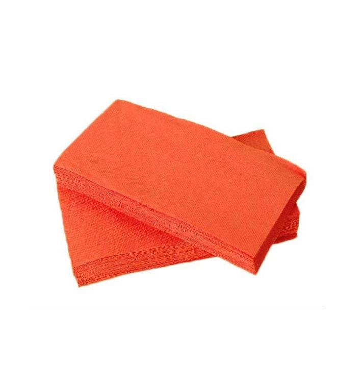 Serviette en papier molletonnée 1/8 40X40 Saumon (50 Unités)