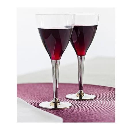 Coupe Jetable en Plastique Eau ou Vin (Paquet 100Utés)