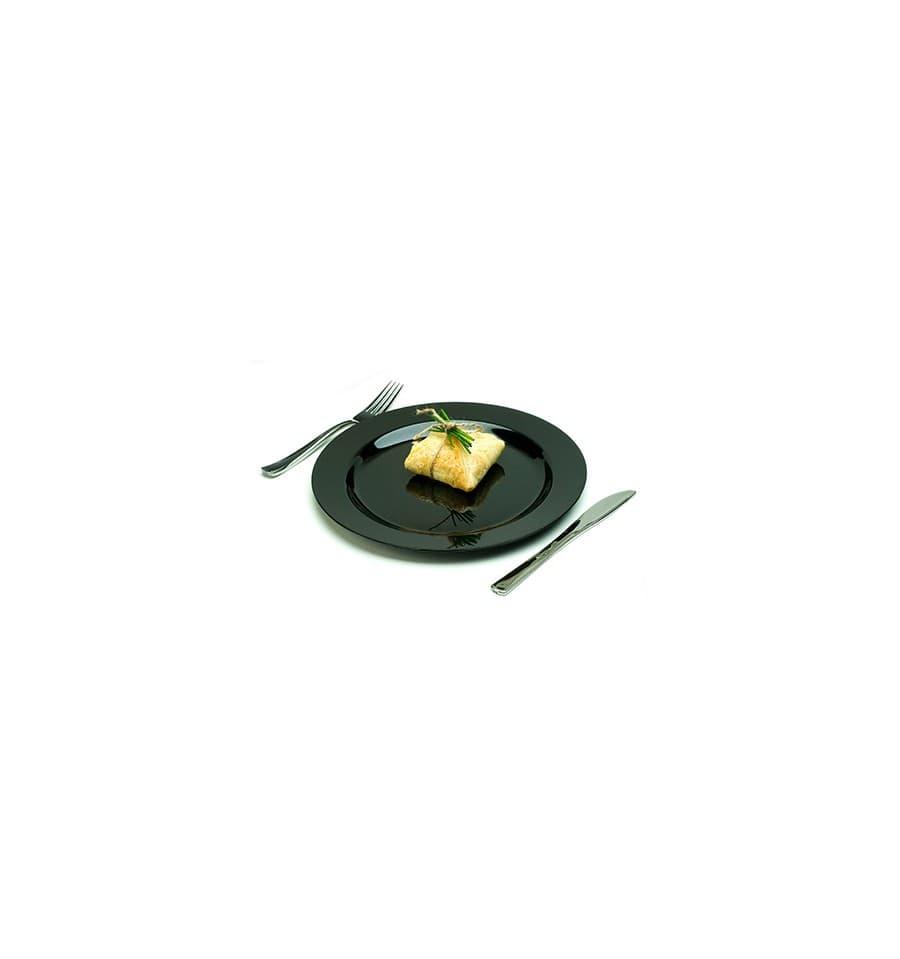 assiette en plastique dur noire 15cm 200 ut s. Black Bedroom Furniture Sets. Home Design Ideas