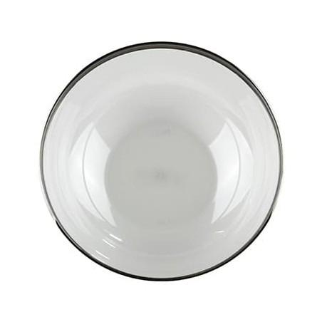Bol en Plastique Extra Dur Liseré Argent 3500ml (40 Utés)