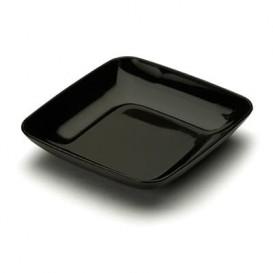 Assiette Carrée Dégustation Noir 6x6x1cm (50 Unités)