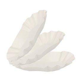 Barquette en Carton Ovale Plastifiée 16,5x10x3,5cm (250 Utés)