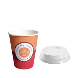 "Gobelet Carton 6oz/180ml ""Specialty""+ Couvercles Ø7,0cm (Packs 2000 Utés)"