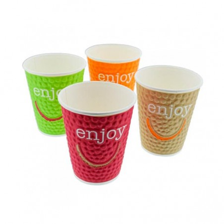 "Gobelet Carton ""Enjoy"" 9oz/267ml (35 Utés)"