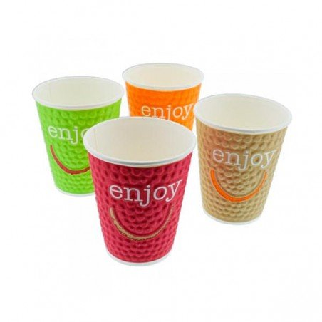 "Gobelet Carton ""Enjoy"" 16oz/495ml (28Utés)"