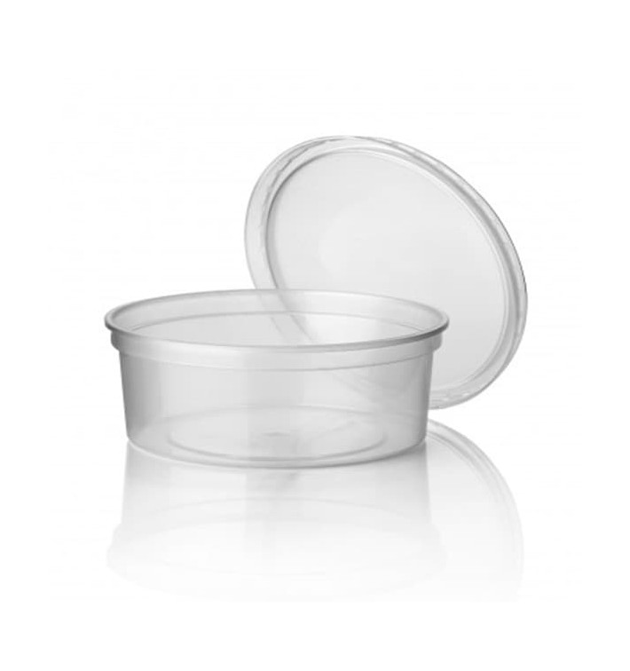Pot en Plastique Transparent 350ml Ø11,5cm  (500 Utés)