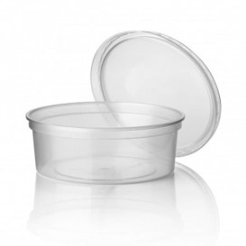 Pot en Plastique Transparent 350ml (50 Utés)