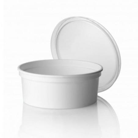 Pot blanc de 350ml (Paquet de 25 Utés)