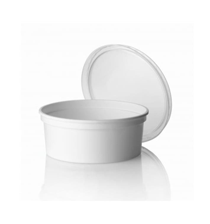 Pot en Plastique Blanc 350 ml (500 Utés)