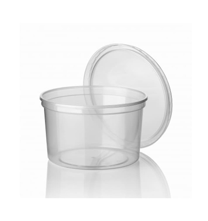 Pot en Plastique Transparent 500ml (500 Utés)