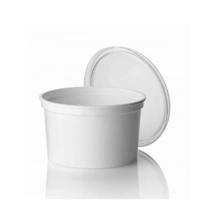 Pot en Plastique Blanc 500ml  Ø11,5cm (50 Utés)
