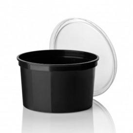Pot en Plastique Noir 500cc  Ø11,5cm (50 Unités)