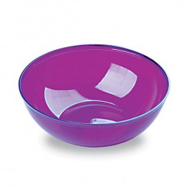 Bol Plastique Aubergine 400ml Ø 14 cm (60 Unités)