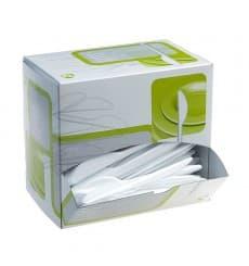 Caja Dispensadora de Tenedores Blancos (250 Uds)