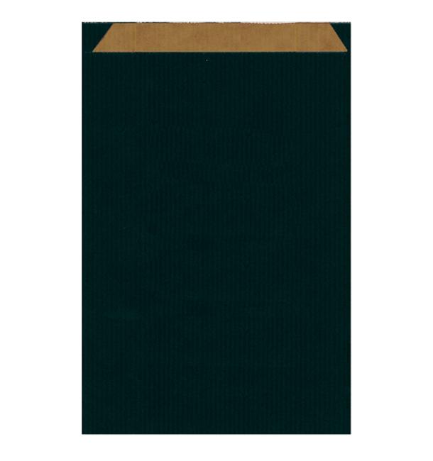 Sac Papier Kraft Noir 26+9x38cm (125 Unités)