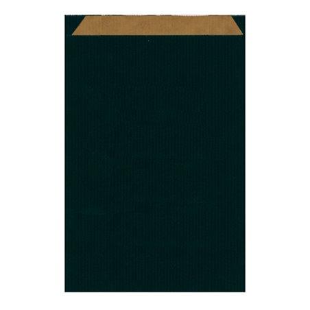Sac Papier Kraft Noire 26+9x46cm (50 Utés)