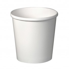 Pot en Carton Blanc 16Oz/473ml Ø9,8cm (25 Utés)