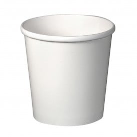 Pot en Carton Blanc 16Oz/473ml Ø9,8cm (500 Utés)