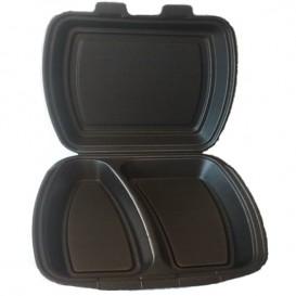 Boîte en FOAM 2 Compartiments Noir (250 Unités)