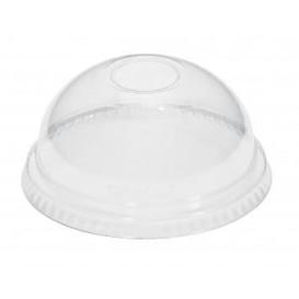Courvercle Dôme Non Perforé PET Cristal Ø9,3cm (1000 Unités)