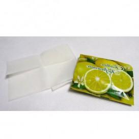 Lingettes Rafraîchissantes Citron en sachet (Boîte 100 Unités)