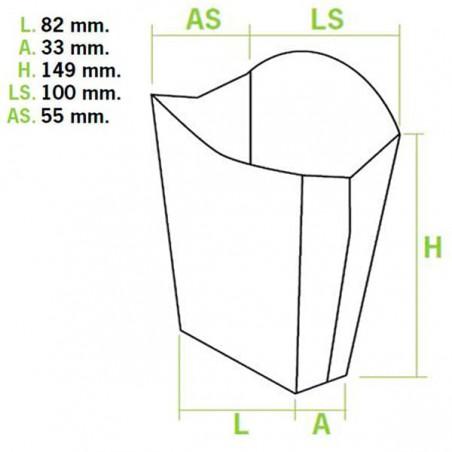 Etui à Frites Grand 8,2x4,2x14,9cm ( 400 Unités)