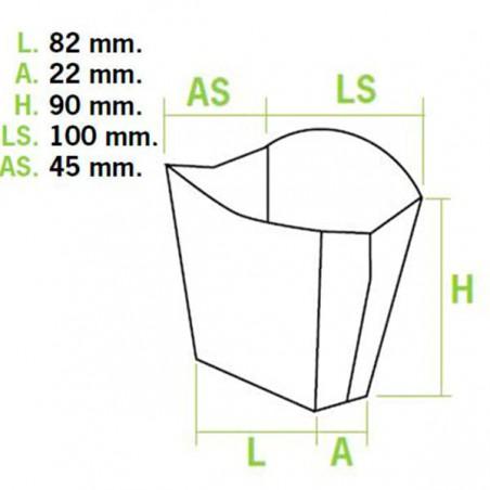 Etui à Frites Petit 8,2x2,2x9cm (600 Unités)