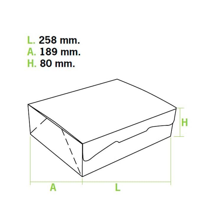 Boîte pâtissière 25,8x18,9x8cm 2Kg.  Rose (25 Utés)