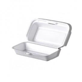 Boîte  FOAM HOTDOG Blanc (125 Unités)