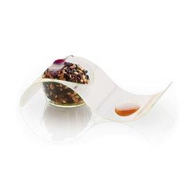Assiette en Plastique Vague 9,5x4,2cm (50 Utés)