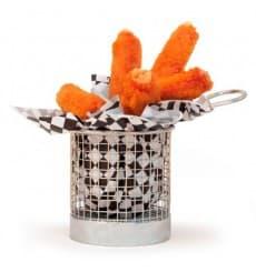Mini friteuse de Présentation en Acier 9,3x8,5cm (6 Unité)
