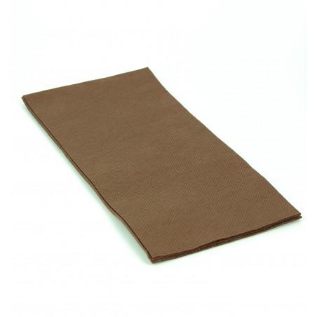 Serviette en papier 1/8 40X40 MARRON (50 Unités)