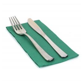 Serviette en papier molletonnée 1/8 40X40 Vert (50 Unités)