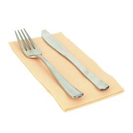 Serviette Papier molletonnée 1/8 40X40 Saumon (1.200 Utés)