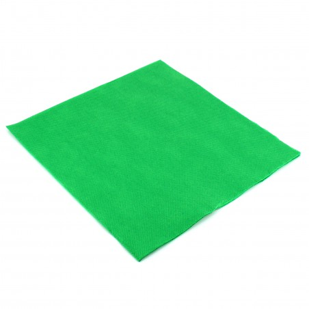 Serviette en papier UNIE 40X40 Vert (1.200 Utés)