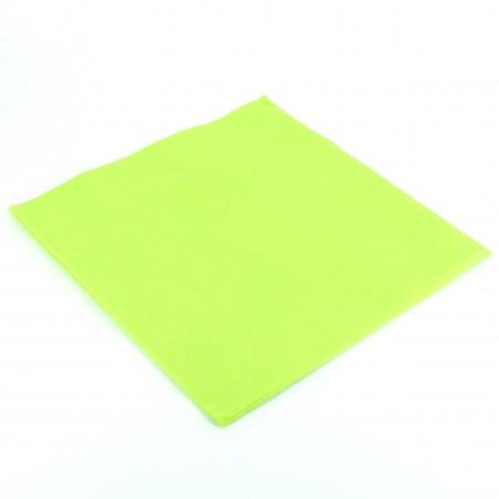 Serviette en papier UNIE 40X40 Verte Lime (1.200Utés)
